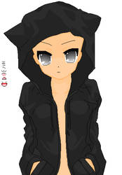 Kitty Hoodie Base by khl1