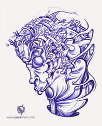 Ballpoint illustration. by jopelines