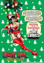 Giant Girl X-mas 2014 card by SabrinaPandora