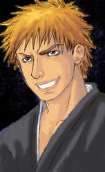 ICHIGO KUROSAKI Rough by Demokun by Demokun54
