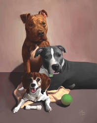 Dog painting by ckmoore