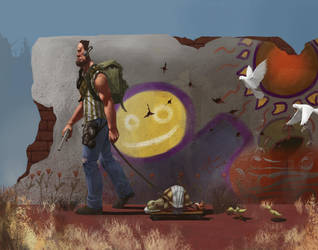 Post Apocalypse: Alien and the Derpy Turtle by ckmoore