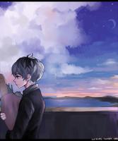 Night sky by akifei