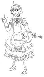 Maid Emil Line Art by Goron-King-Darunia