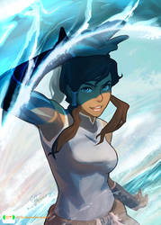 Korra In Her Element!! by dCTb