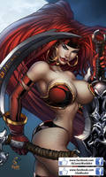 Red Monika/Darksiders (Color) by acomicworld
