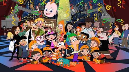 Phineas and Ferb HAPPY 10TH ANNIVERSARY!!! UPDATE by pacosanchez123
