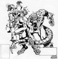 Spider-Man into Spider-Lizard by Stonegate