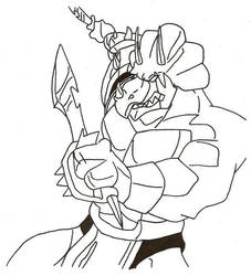 Monza Ram with Swords by Stonegate