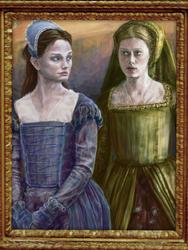 Rowena Ravenclaw and Helga Hufflepuff by Liddl15