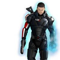 Mass Effect Biotic Shepard by HerpDerp187