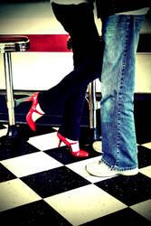 Foot Poppin' Good Kiss by silentscreamer07