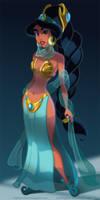 Slave Princess Jasmine by pushfighter