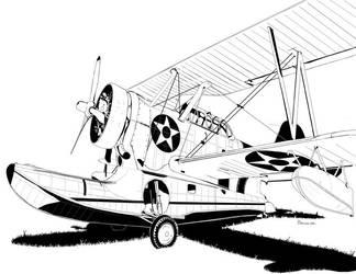 Grumman J2F Duck - Amphibian by bowdenja