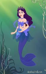 Blackrain-as-a-Mermaid-Queen-by-AzaleasDolls by cher123456