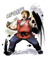 Yoshinori Ono: Ultimate CAPCOM boss by DaiKuwabara