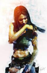 Lara Croft by DanielMurrayART