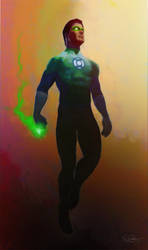 Green lantern by DanielMurrayART