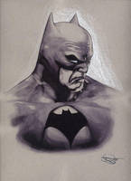 The Batman - Ink and colored pencil by DanielMurrayART