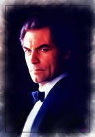 Timothy Dalton as 007 by DanielMurrayART