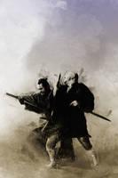 Zatoichi meets Yojimbo by DanielMurrayART