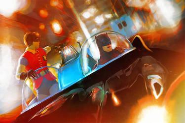 Batman! There they go! by DanielMurrayART
