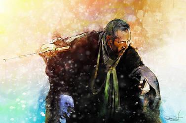 The blind swordsman, Zatoichi by DanielMurrayART