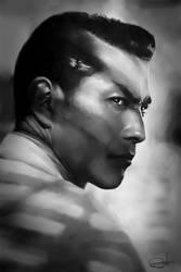 Toshiro Mifune by DanielMurrayART
