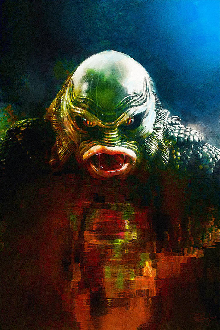 The Creature from the Black Lagoon by DanielMurrayART