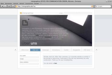 intergraphica website relaunch by OliverZeidler