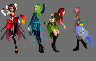 Old- Outfits by Freed-Wings