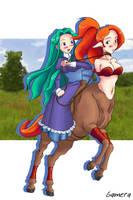 Riding a centauress by gamera1985