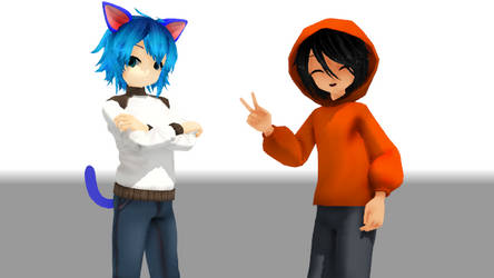 [MMD] Gumball And Darwin by AnitaLover10