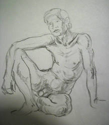 Seated male by Ernimator
