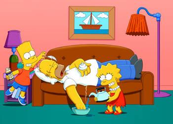 Pranking Homer  In Color  By Dennisnotthemenace by Ernimator