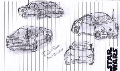 Car Sketches by CrappyMSPaintArt