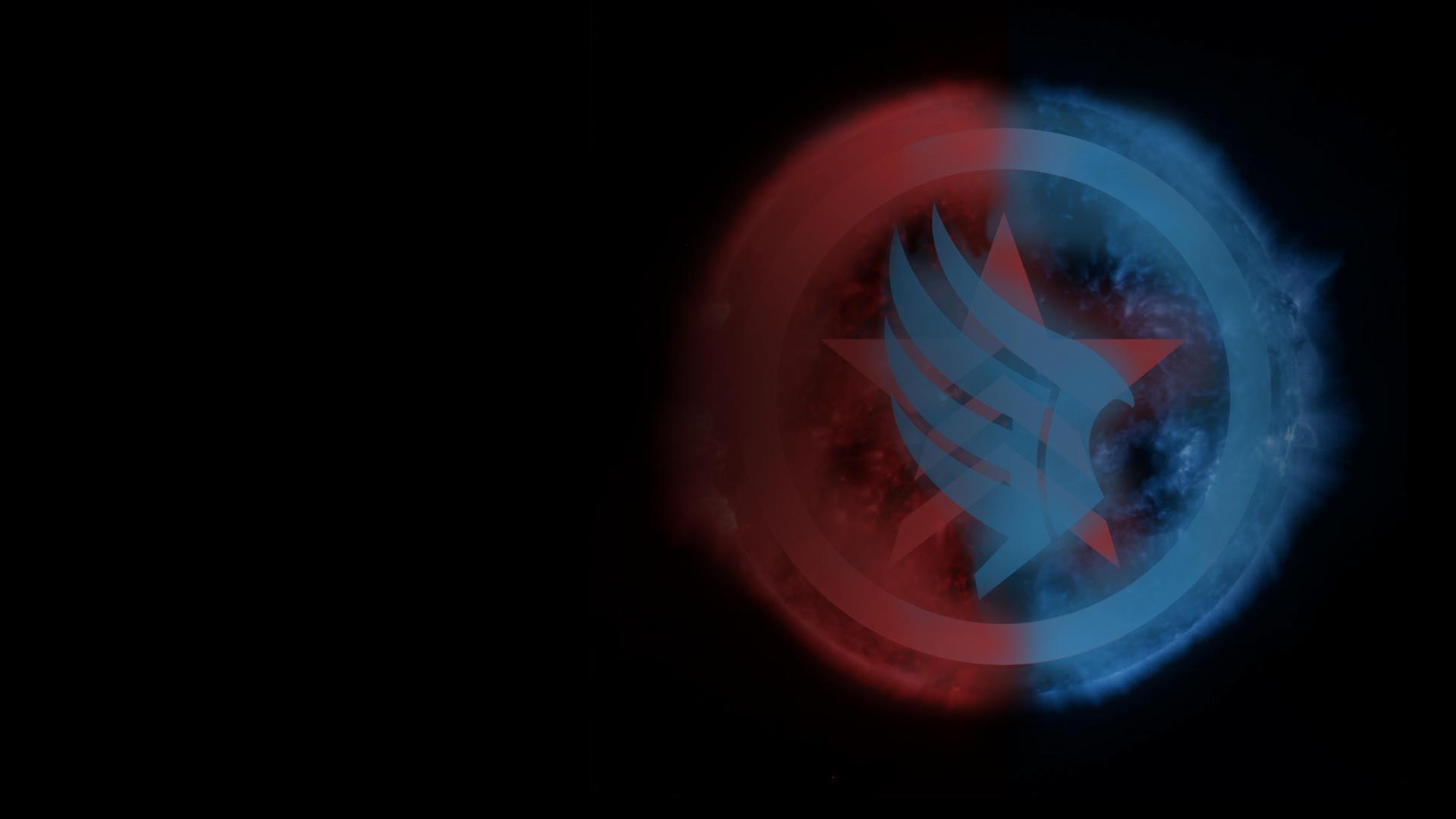 Mass Effect Background: Paragon/Renegade Sun by dmcblue
