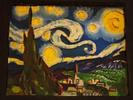 Starry Night in Cardboard by dmcblue