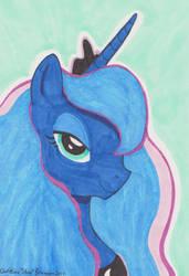 Pony Portrait - Princess Luna by InkDotThePony