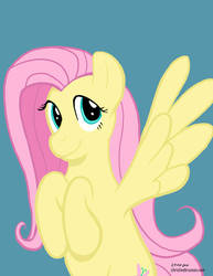 Fluttershy - speed paint by InkDotThePony