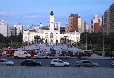 Moreno Square and Town Hall of La Plata, Bs. As. by Magicary