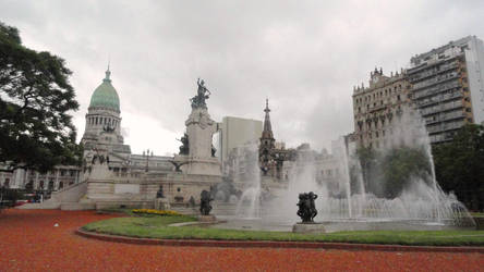 Square of the Argetinean National Congress by Magicary