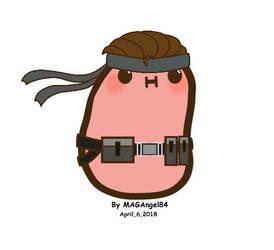 Kawaii Snake Potato by MAGAngel