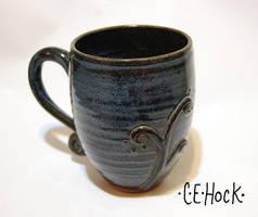 Blue Swirl Mug by ForeverTuesday