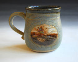 Lonely Boat Mug by ForeverTuesday