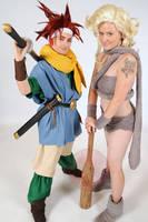 Crono and Ayla by GebGeb
