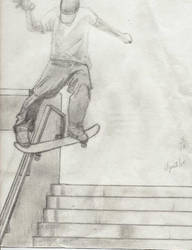 skateboarder by porcupinehead