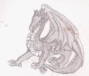 Dragon sketch by rocklovingwolf100