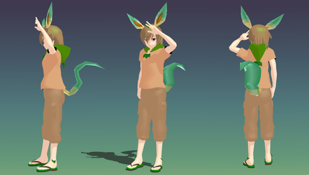 [MMD] Eric the Leafeon (Reference) by SuperBashSisters