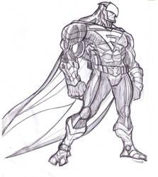 Blue Falcon sketch by jmqrz